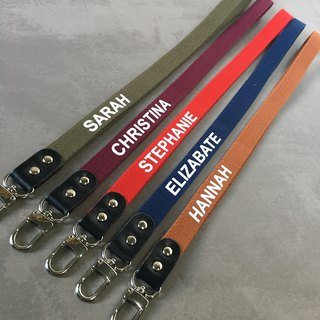 Personalized Handmade lanyard, keychain, key strap, Leather Neck Strap , Neck La