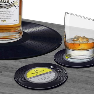 Vinyl Record silicone Coaster/Lid X2 + Table mat / Placemats X1
