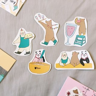Raccoon/Friend You Friendly Party - 2017 Good Hand Matte Sticker Pack 5 In