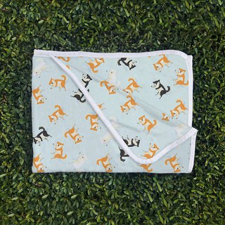 Shiba Inu three brothers blanket nap blanket cold air blanket pet blanket