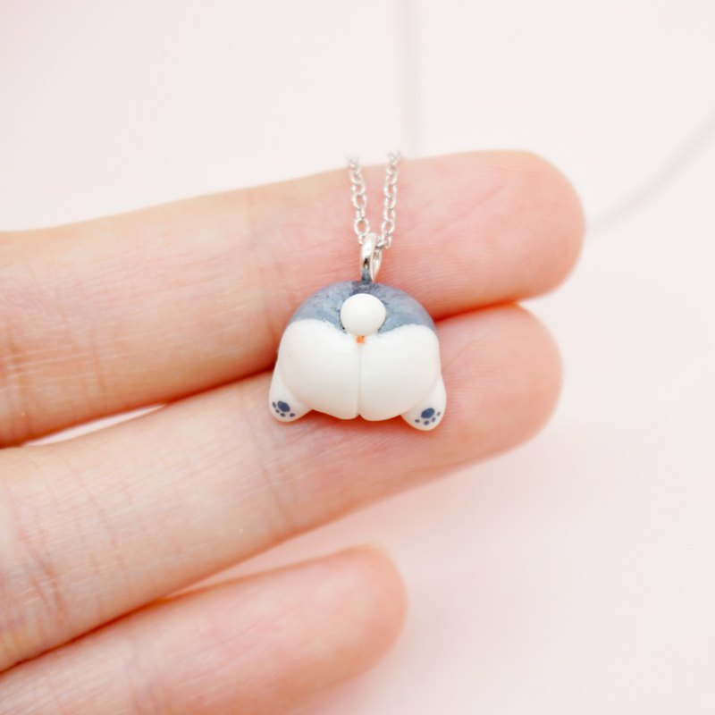 S925 sterling silver hamster butt necklace super cure small animal pendant birthday Christmas New Year gift