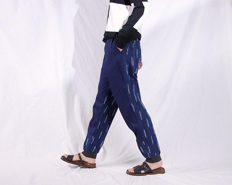 立體刮花丹寧牛仔長褲 #T2202