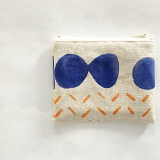 moshimoshi | linen small package - blue cell division