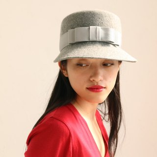 "Short Brimmed Wool Felt Cap ""Lisa Gray"""