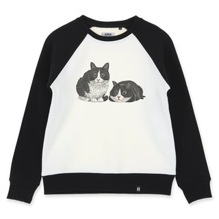 AMO®Original cotton adult Sweater /AKE/ Twin Cats With Big Eyes