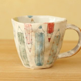 Powdered hand cup colorful pencil cup.