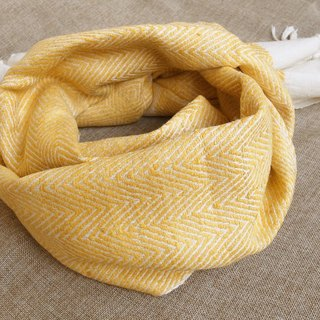 【Grooving the beats】Wild Silk Hand Woven Stole / Shawl / Scarf / Wrap(Yellow)
