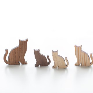 Customized Tanabata Name Gift Wood Light Color Wood Chips - Cat Series
