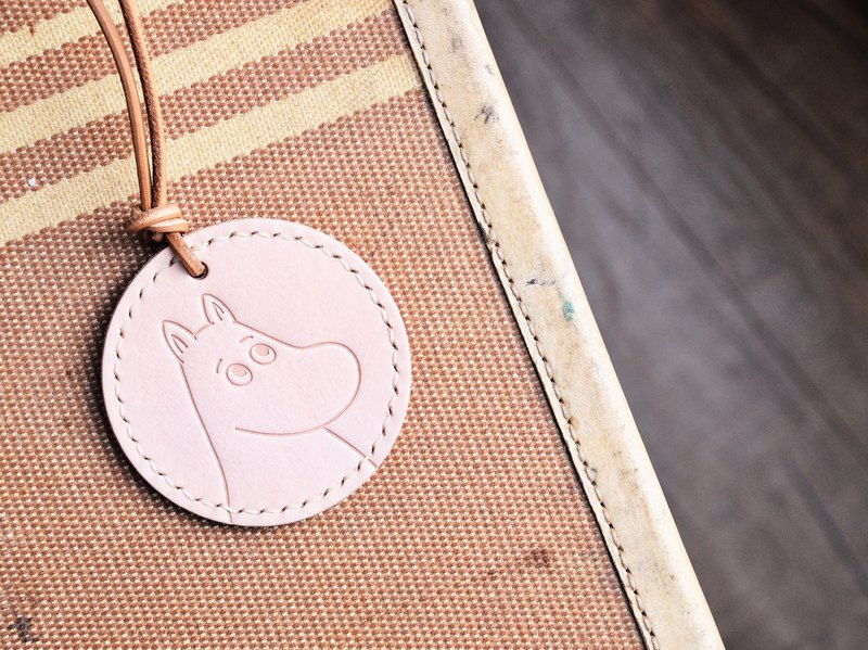 MOOMIN x Hong Kong-made leather m Ming luggage tag key ring color material package officially authorized