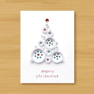 Handmade Roll Paper Christmas Card _ Blessings from afar ‧ Dream Bubble Christmas Tree _A