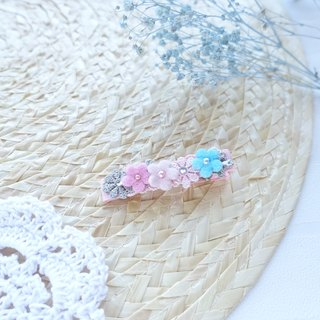 Hair Accessories - Pastel color flowers hairclips (Pink)