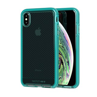 British Tech 21 anti-collision soft check protection shell - iPhone Xs transparent green (5056234706787)