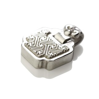 Silver ink NEROSILVER - FH-LLL07 longevity lock long life [925] silver jewelry necklaces Chinese style / manual silver