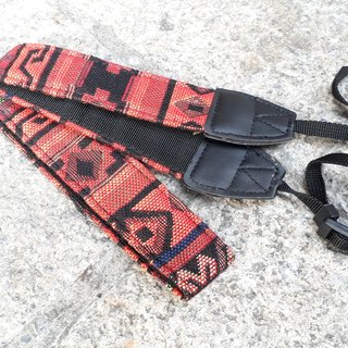 AMIN'S SHINY WORLD Featured National Wind Red Jacquard Totem Camera Belt