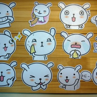 Bucute / PVC waterproof luggage stickers / whole group 12 (Small)