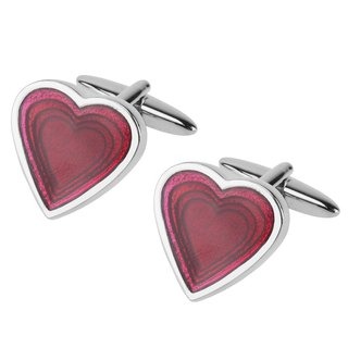 Red Love Heart Cufflinks