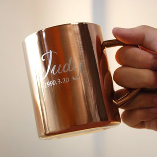 Customized fashion rose gold stainless steel cup / birthday / Valentine's Day / wedding gift / anniversary