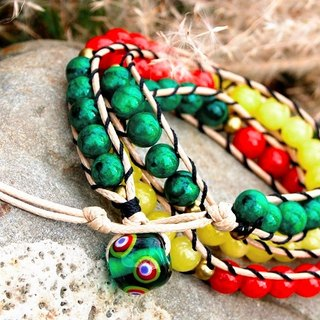 ◆ ◆ IF Series | If the series ◆ rice topaz three braided bracelet