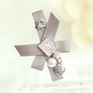 French Style Accessorize Ribbon Hair Clip