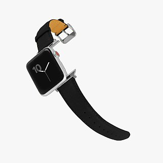 Multicolor Genuine Leather Goatskin Series Macaron Dream Black Apple Watch Apple Watch Strap