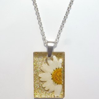 Resin Necklace. Resin Jewelry with Pressed Flowers.Handmade Resin Jewelry, Shiny