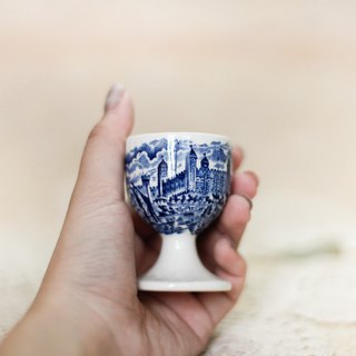 [Good day fetish] British classic classic classical egg cup (blue)