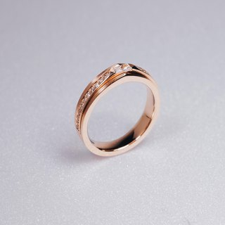 Frankness | 14K Solid Rose Gold Ring