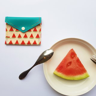 2 face waterproof personal belongings pack - watermelon bite a tissue / wiper / maxi pad purse