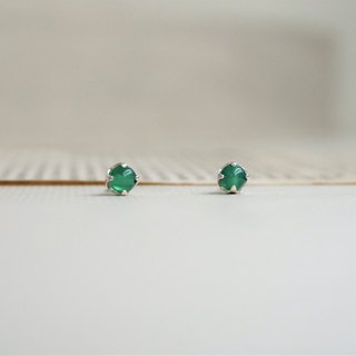 << May Birthstone - Green Agate Earrings>> Birthstone Earrings Birthstone
