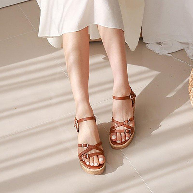 PRE-ORDER韓國人手製 MACMOC Bianca Brown 涼鞋