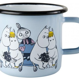 Moomin Finnish Lulu enamel mug 3.7 dl (2017 Spring Friends Aqua) Christmas gifts Valentine's Day gift exchange gifts