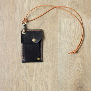 The certificate should also have mystery/identification card clip neck lanyard combination hand-sewn leather certificate leisure card set black
