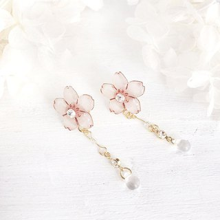 SAKURA DEWDROP PIERCE イヤリング交換OK