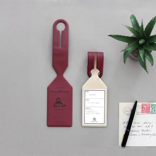 Flight Diary Baggage Tag - Wine Red, ICO86888