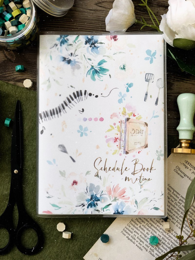 No aging watercolor handbook ME TIME - Blue Diary