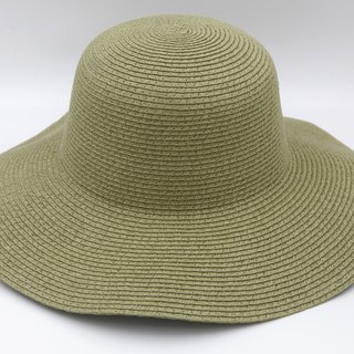 [Paper cloth home] European wave cap (military green) paper weave