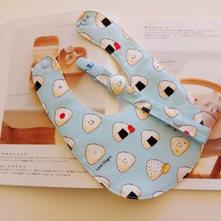 Rice balls Kids little moon gift baby bib + pacifier clip