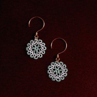 Tatting earrings <Mint green>
