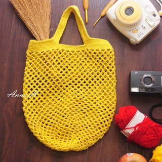 Lyme yellow hand hook mesh bag woven mesh bag