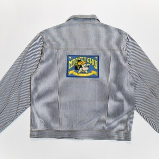 [3thclub Ming Ren Tong] Mickey striped denim jacket CTJ-010 vintage
