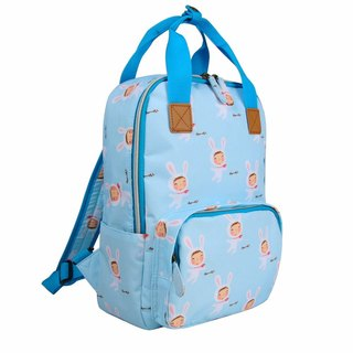 light blue buddy child backpack (seamless print series)