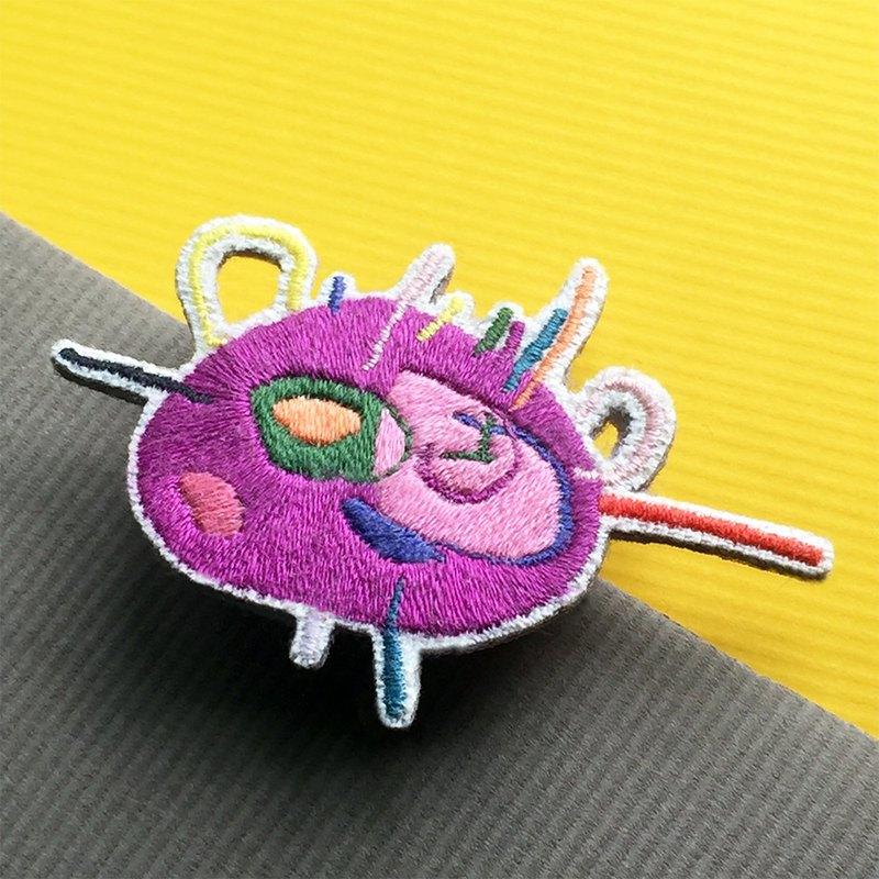手工刺繡胸針/別針 小怪物大集合 1號