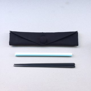 adoubao-Chopsticks set Cutlery bag - all black