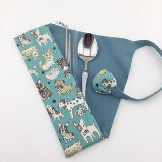 Little fox - environmentally friendly tableware / straw bag