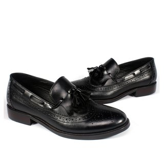 sixlips British wing grain fringed carved Carrefour shoes black (girls / neutral)