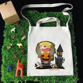[Halloween Special] Illustrator Micky Halloween Wenchuang Wind Straight Canvas Bag