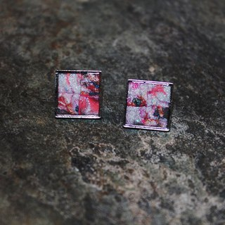 Sunset car pin soft clay earrings