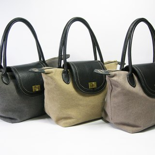Practical brand zipper lock button bag (canvas) __made as zuo zuo hand zipper lock button package