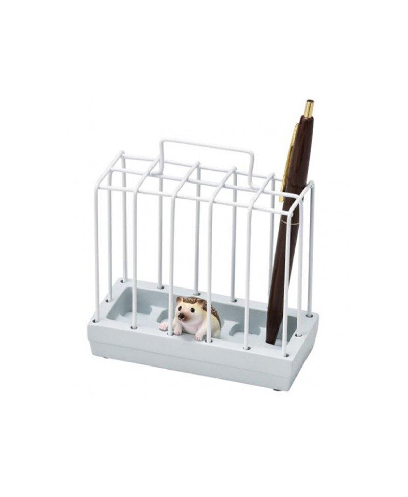 日本Magnets動物監獄造形筆筒/文具收納架 (刺蝟)