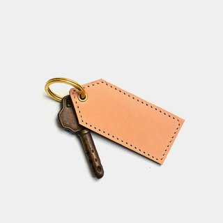 [Blank tag] leather key ring lettering gift leather key ring key printing brand